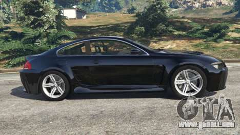 GTA 5 BMW M6 (E63) WideBody v0.1 vista lateral izquierda