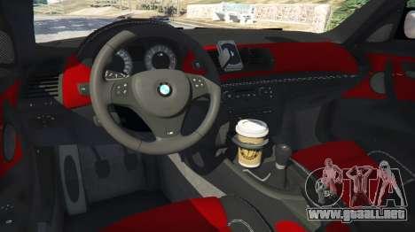 GTA 5 BMW 1M v1.2 vista lateral trasera derecha