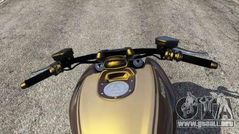 GTA 5 Ducati Diavel Carbon 11 v1.1 vista lateral trasera derecha