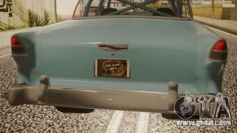 Chevrolet Bel Air Gasser para GTA San Andreas vista hacia atrás