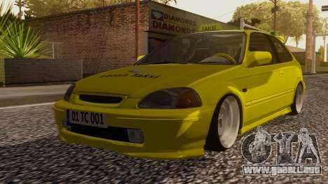 Honda Civic Taxi para GTA San Andreas