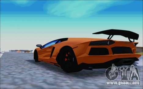Lamborghini Aventador MV.1 [IVF] para GTA San Andreas vista posterior izquierda