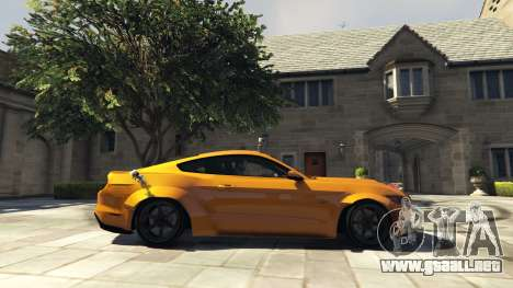 GTA 5 Ford Mustang GT RocketB & Wide Body vista lateral izquierda