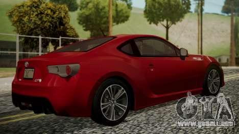 Toyota GT86 2012 LQ para GTA San Andreas left