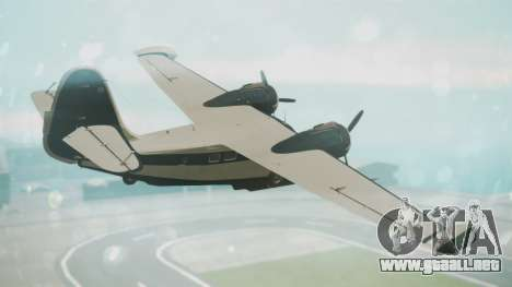 Grumman G-21 Goose Black and White para GTA San Andreas left