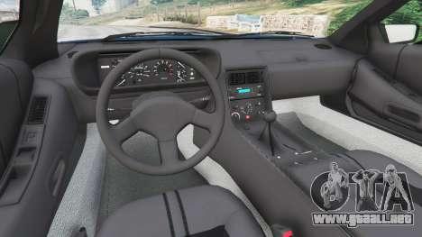 GTA 5 DeLorean DMC-12 v1.2 vista lateral trasera derecha