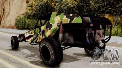 Buggy Camo Shark Mouth para GTA San Andreas left