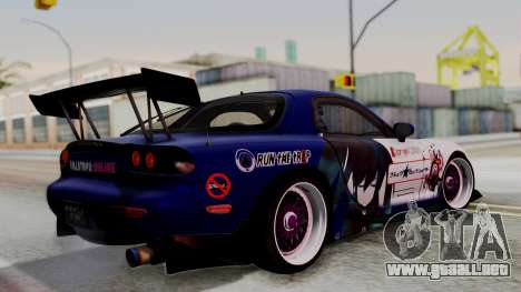 Mazda RX-7 Black Rock Shooter Itasha para GTA San Andreas left