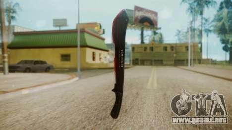 GTA 5 Machete (From Lowider DLC) Bloody para GTA San Andreas tercera pantalla