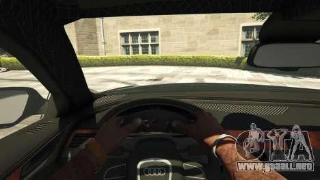 GTA 5 Audi A8 v1.1 vista trasera