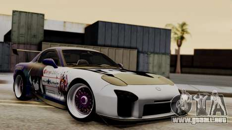 Mazda RX-7 Black Rock Shooter Itasha para visión interna GTA San Andreas