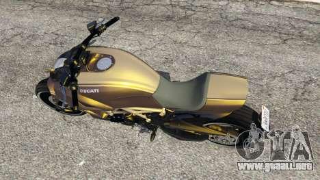GTA 5 Ducati Diavel Carbon 11 v1.1 vista trasera