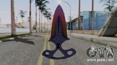 Shadow Dagger Gradient para GTA San Andreas segunda pantalla