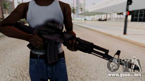 AK-103 from Special Force 2 para GTA San Andreas tercera pantalla