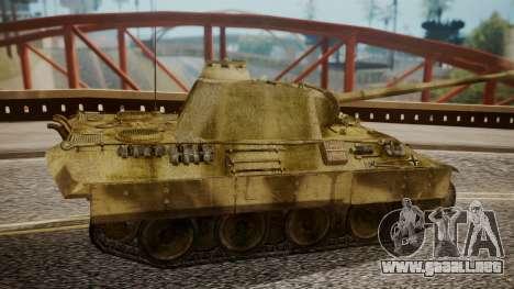 Panzerkampfwagen V Ausf. A Panther para GTA San Andreas vista posterior izquierda
