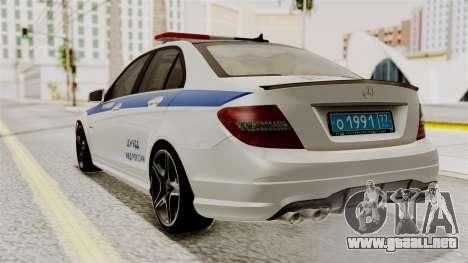 Mercedes-Benz C63 AMG STSI el Ministerio de Asun para GTA San Andreas left