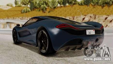 Citric Progen T20 para GTA San Andreas left