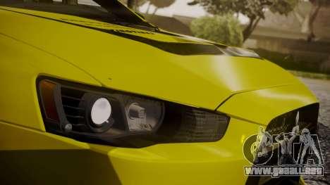 Mitsubishi Lancer Evolution X 2015 Final Edition para GTA San Andreas interior
