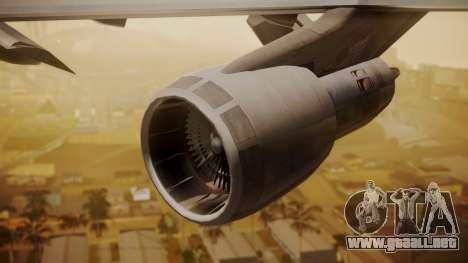 Boeing 747-200 Fly US para la visión correcta GTA San Andreas
