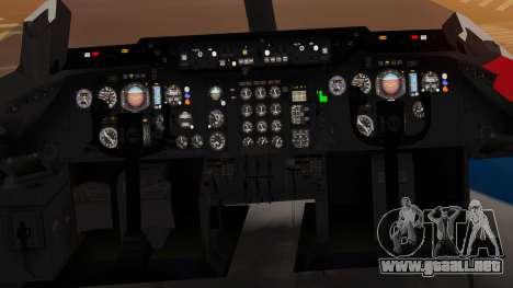 DC-10-10 United Airlines (80s Livery) para GTA San Andreas vista hacia atrás