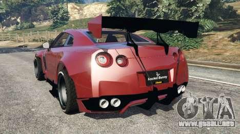 GTA 5 Nissan GT-R (R35) [RocketBunny] v1.1 vista lateral izquierda trasera