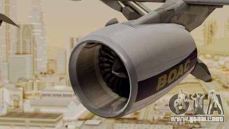 Airbus A380-800 British Overseas Airways Corp. para la visión correcta GTA San Andreas