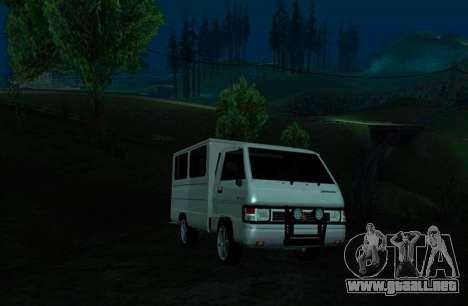 Mitsubishi L300 FB Van para GTA San Andreas left