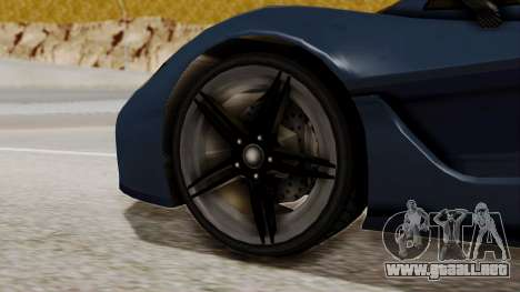 Citric Progen T20 para GTA San Andreas vista posterior izquierda