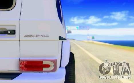 Mercedes-Benz G65 AMG para vista inferior GTA San Andreas