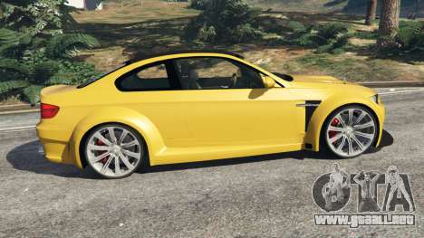 GTA 5 BMW M3 (E92) WideBody v1.1 vista lateral izquierda