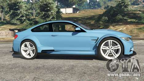 GTA 5 BMW M4 (F82) WideBody vista lateral izquierda