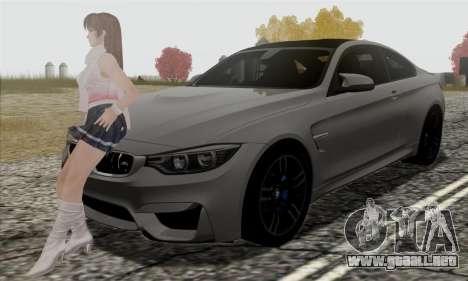 BMW M4 F82 para vista inferior GTA San Andreas