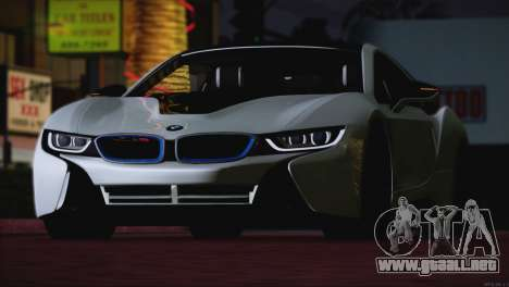 BMW i8 Coupe 2015 para vista lateral GTA San Andreas