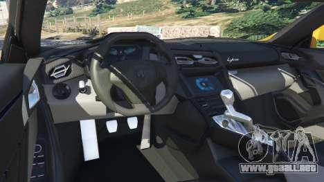 GTA 5 Lykan HyperSport 2014 v1.2 vista lateral trasera derecha