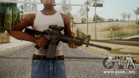 M4 by catfromnesbox para GTA San Andreas tercera pantalla