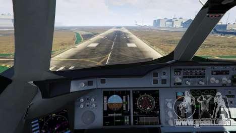 GTA 5 Airbus A380-800 v1.1 noveno captura de pantalla
