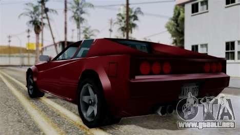 Cheetah from Vice City Stories para GTA San Andreas left