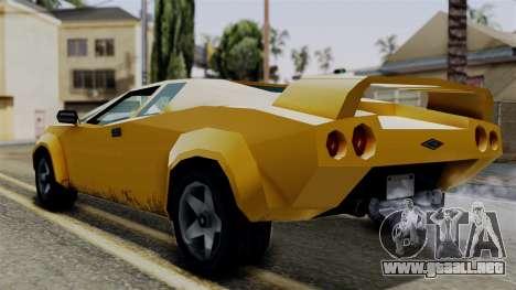 Infernus from Vice City Stories para GTA San Andreas left