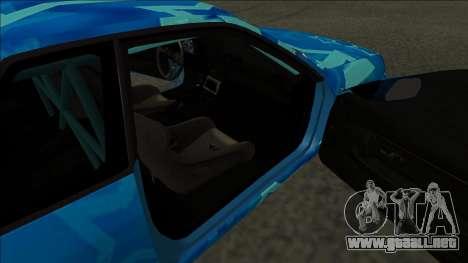 Nissan Skyline R32 Drift Blue Star para GTA San Andreas vista posterior izquierda