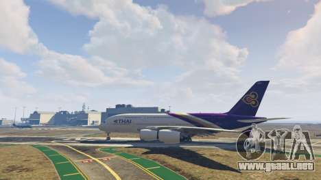 GTA 5 Airbus A380-800 v1.1 quinta captura de pantalla