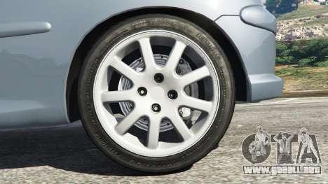 GTA 5 Peugeot 206 GTI vista lateral trasera derecha