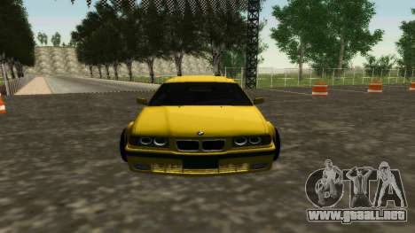 BMW 320i E36 Wide Body Kit para GTA San Andreas left