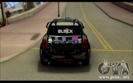 Mini Cooper Gymkhana 6 with Drift Handling para GTA San Andreas vista hacia atrás
