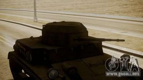 T2 Light Tank para la visión correcta GTA San Andreas