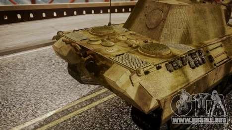 Panzerkampfwagen V Ausf. A Panther para la visión correcta GTA San Andreas