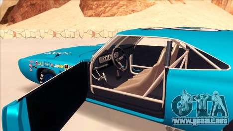 Plymouth Superbird 1943 para GTA San Andreas vista posterior izquierda