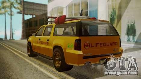 GTA 5 Declasse Granger Lifeguard IVF para GTA San Andreas left
