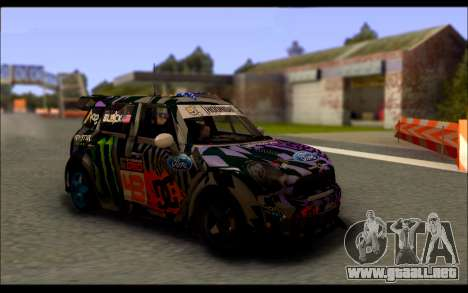 Mini Cooper Gymkhana 6 with Drift Handling para GTA San Andreas left