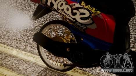 Honda Scoopy New Red and Blue para la visión correcta GTA San Andreas