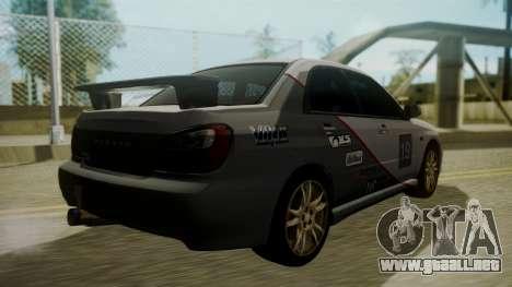 Subaru Impreza WRX GDA para vista inferior GTA San Andreas